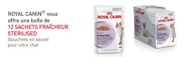 Retirez gratuitement une boîte de 12 sachets fraîcheur Royal Canin