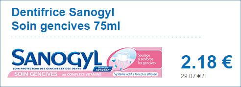 Dentifrice Sanogyl en magasin Leclerc