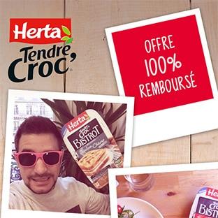 Tendre Croc' Herta gratuit car 100% remboursé avec Shopmium