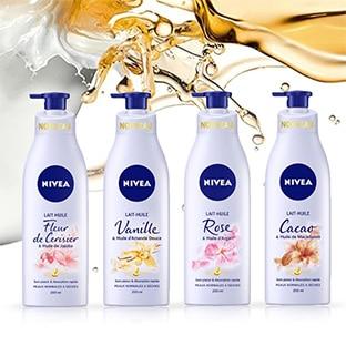 Test de la gamme lait-huile de Nivea : 400 soins gratuits