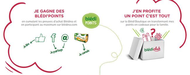 Gagnez des Blédi'points et obtenez des cadeaux sur Blédiclub