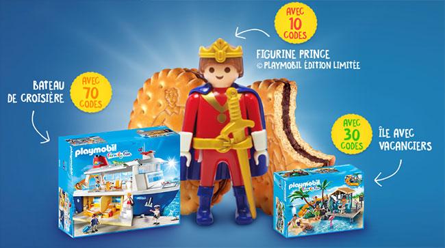 Playmobil gratuit contre l'achat de biscuits Prince