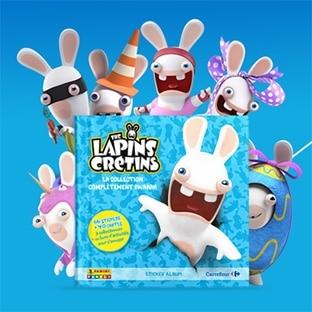 Carrefour : Cartes et stickers Lapins Crétins Panini offerts