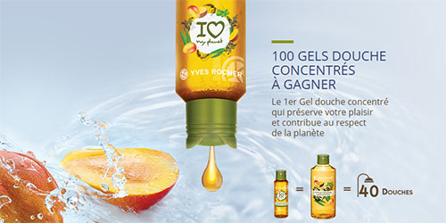 "Remportez un gel douche Yves Rocher ""I love my planet"""