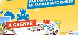 Jeu Nos Week-ends Kinder : 1430 cadeaux à gagner