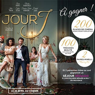 Jeu Minelli / film Jour J : 302 cadeaux et 2 séjours à gagner