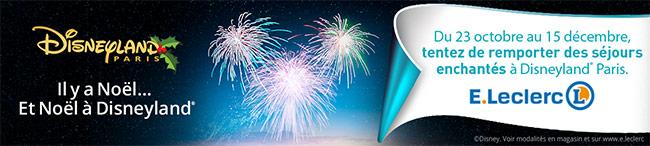 Grand jeu de Noël Magique Disneyland avec E Leclerc