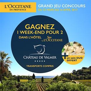 Tentez de remporter un week-end Spa L'Occitane