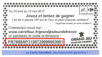 Comment participer au Grand jeu Carrefour Tour de France 2017 ?