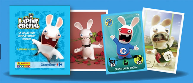 Carrefour cartes et stickers lapins cr tins panini offerts - Ou acheter des stickers ...