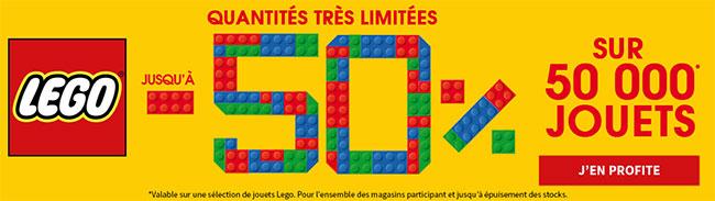 Jusqu'à 50% de remise sur une sélection de jouets Lego