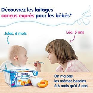 Grand test Les Initiés : P'tits Laitages Nestlé gratuits pour bébé
