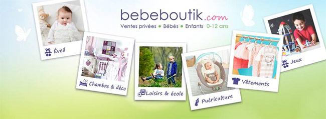 Ventes privées Bebeboutik : Produits bébés, enfants et mamans