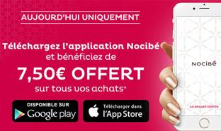 Application Nocibé : Bon d'achat offert de 7,50€ valable dès 10€