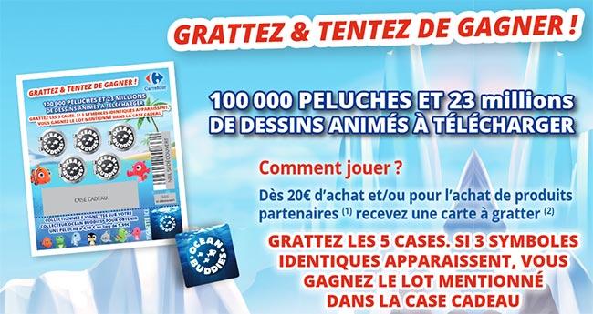 """cadeaux des Cartes à gratter """"Les amis des océans"""" de Carrefour"""