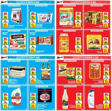 80% d'économies sur 16 articles dans les magasins Carrefour