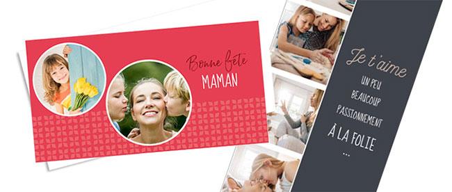 Cartes Fête des Mères personnalisées et gratuites avec Kinder