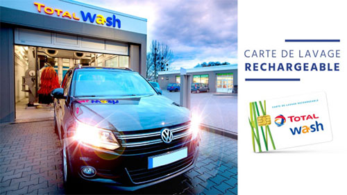 Vente privée Total Wash : Carte de lavage de 40€