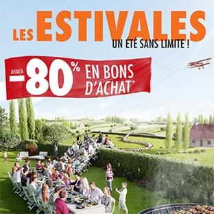 Catalogue Carrefour Les Estivales : -80% en bons d'achat