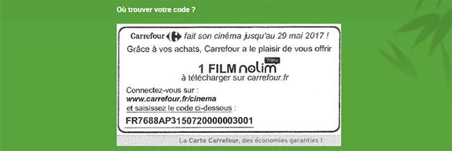 Un film offert par Carrefour à télécharger sur Nolim