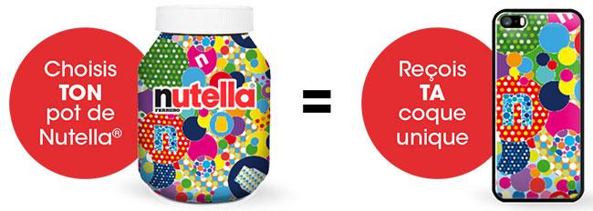 pot Nutella acheté = coque portable gratuite