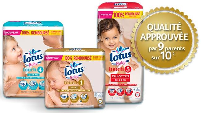 Faites tester à votre bébé les couches Lotus