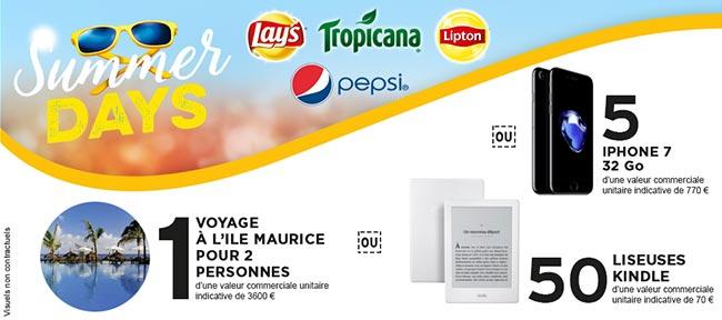 Cadeaux offerts par Pepsico et Intermarché