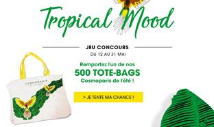 Jeu Tropical Mood Cosmoparis : Tote-bags d'été à gagner