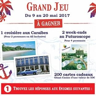 Jeu Chasse au trésor Casino : 200 cartes cadeaux et 3 séjours