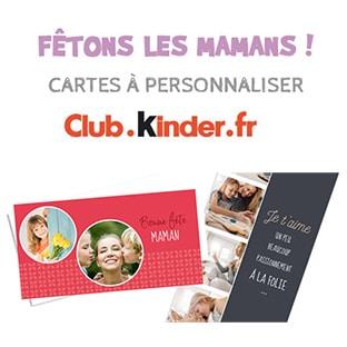 Kinder fête Mères : Envoyez une carte gratuite à votre maman
