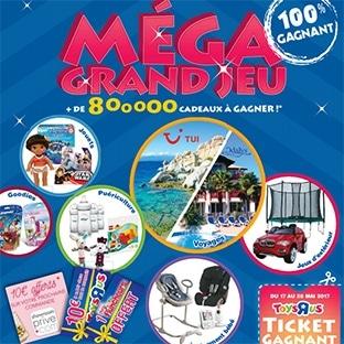 """Méga jeu 100% gagnant Toys""""R""""Us : + de 800'000 cadeaux"""