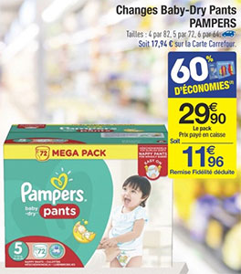 Carrefour promo couches pampers m ga pack 8 96 - Promo couche pampers carrefour ...