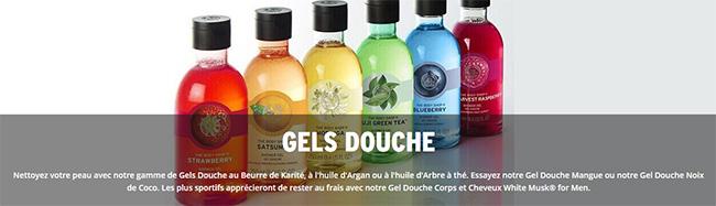 Remises dégressives sur les gels douche The Body Shop