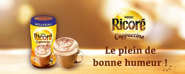 Tentez de recevoir l'un des packs Ricoré Cappuccino