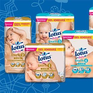 Test de couches Lotus Baby Touch : 8000 paquets gratuits