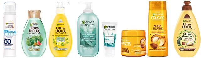 Les tests de produits Garnier disponibles actuellement