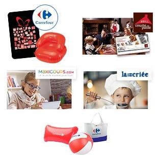 Jeu Les partenaires Carrefour : 280 lots de cadeaux à gagner