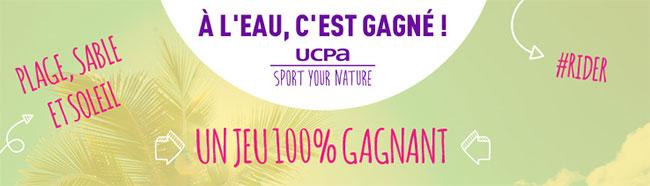 Tentez votre chance au grand jeu de l'UCPA : À l'eau, c'est gagné !