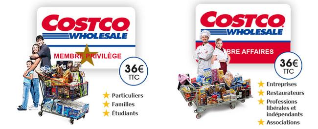 Costco, une affaire de carte membre à 36€/an