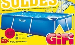 Catalogue Soldes Gifi : Jusqu'à 70% de réduction (piscines ...)
