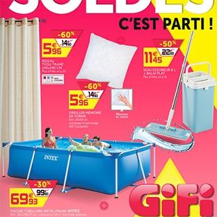 Catalogue Soldes Gifi : Jusqu'à 70% de réduction (piscines …)