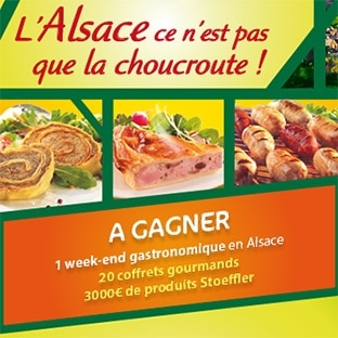 Jeu Stoeffler : Week-end en Alsace, coffrets gourmands…