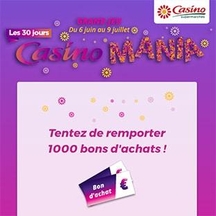 Jeu Casino Mania : 1000 bons d'achat à gagner