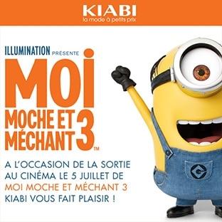 Jeu Moi, Moche et Méchant 3 – Kiabi : 166 lots à remporter