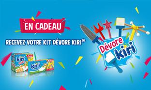 Kit Kiri Dévore offert pour l'achat de packs Kiri Crème et Goûter