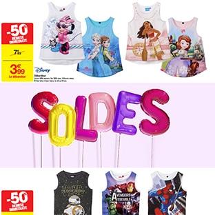 Soldes Carrefour : Débardeurs Disney pour enfants à 3,99€