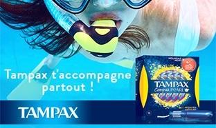 Test Envie de Plus : Tampons Tampax Compak Pearl gratuits