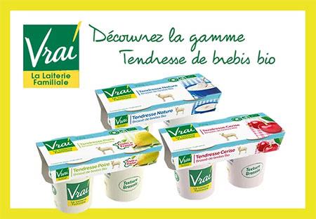 testez gratuitement les yaourts Vrai au lait de brebis bio