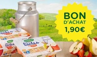 Blédina : Les Lactés gratuits grâce à un bon d'achat de 1,90€