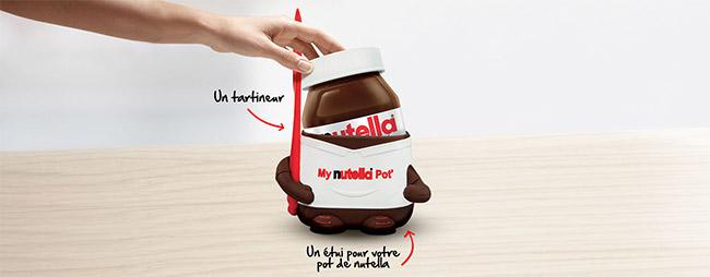 My Nutella Pot' : étui + tartineur offerts